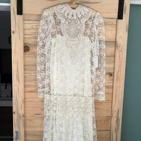 Vintage Lace Wedding Dress Size 8
